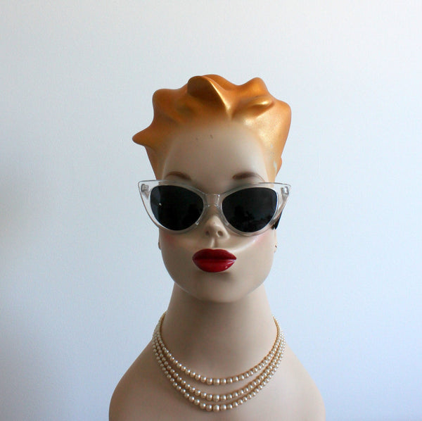 'Lady Lucite' vintage style sunglasses ice