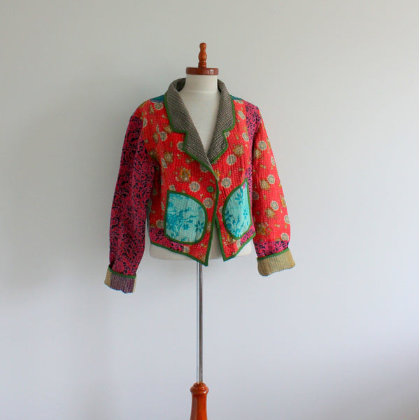 Upcycled kantha jacket large