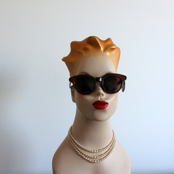 'Through the grapevine' vintage style sunglasses amber