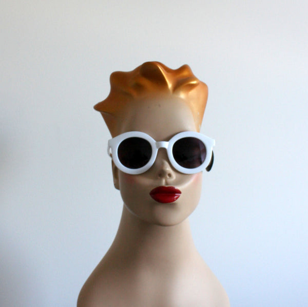 'Get your sunshine on' vintage style sunglasses white