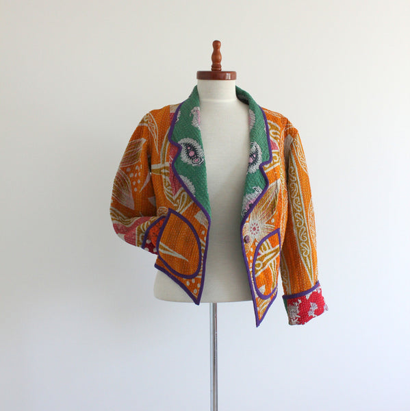 Upcycled Kantha jacket medium