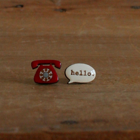 "Telephone ""Hello"" earrings"