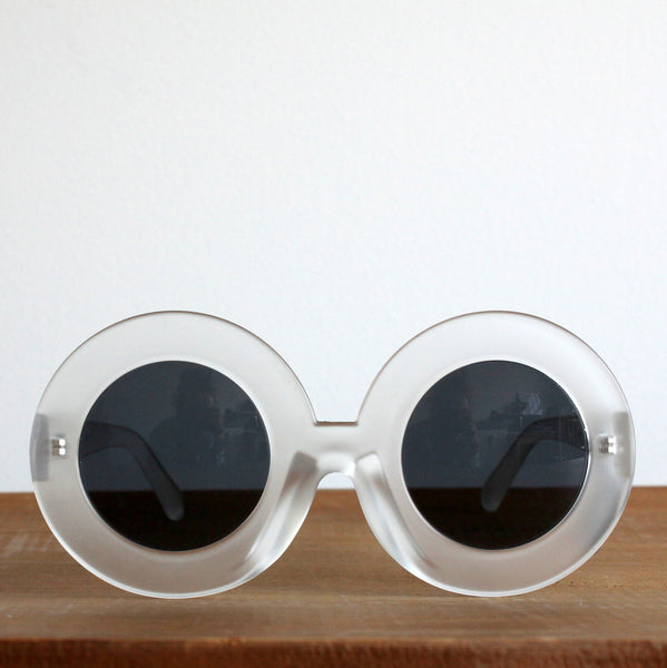 'Popping Candy' vintage style sunglasses clear