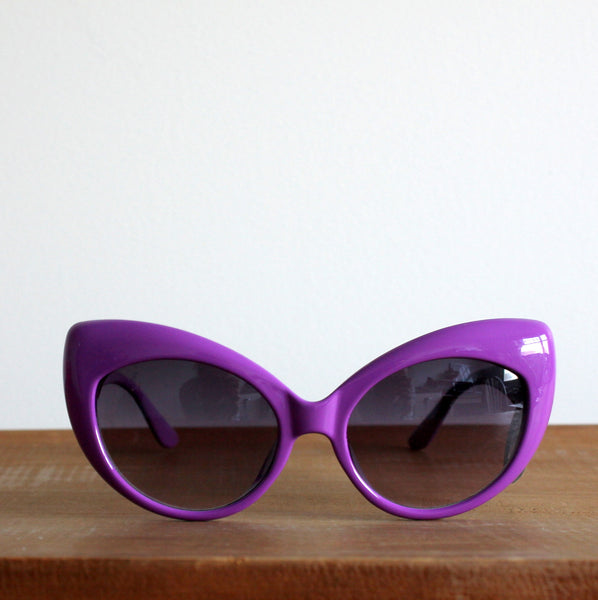 'Basking Beauties' vintage style sunglasses purple