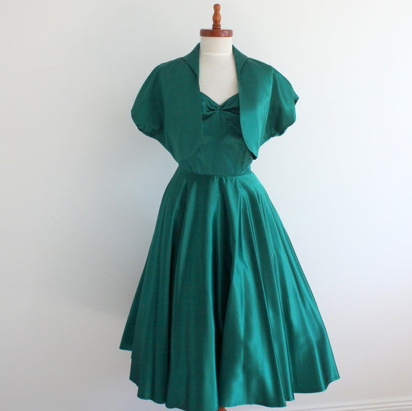 1950's style halter dress and bolero set