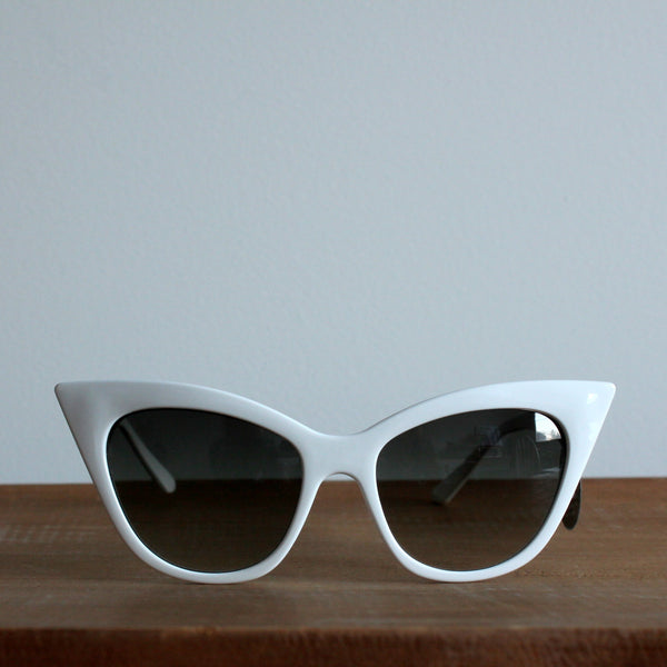 'Pretty Pointed' vintage style sunglasses white