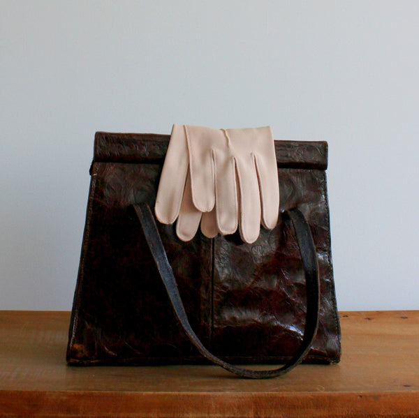 Vintage 1960's short fabric gloves