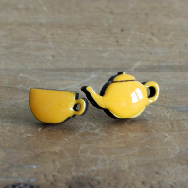 Cup of tea earrings
