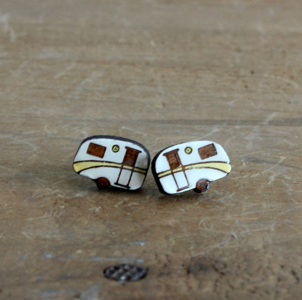 Vintage caravan earrings