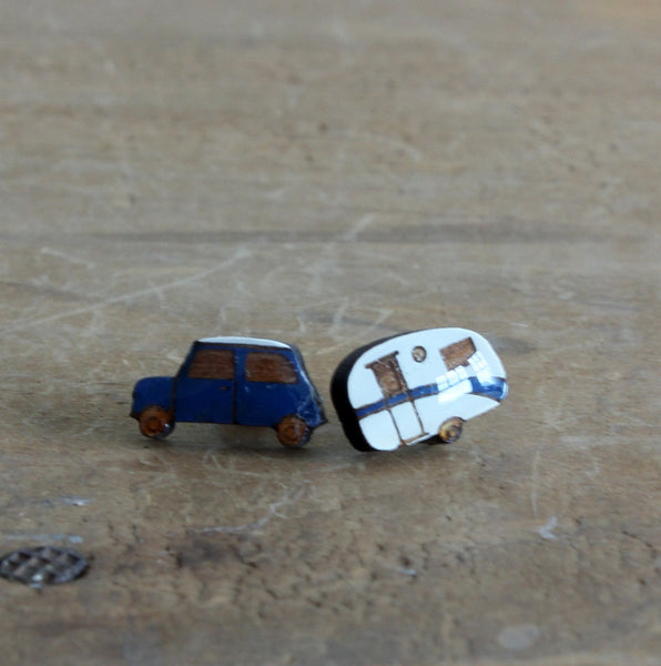 Car and caravan earrings