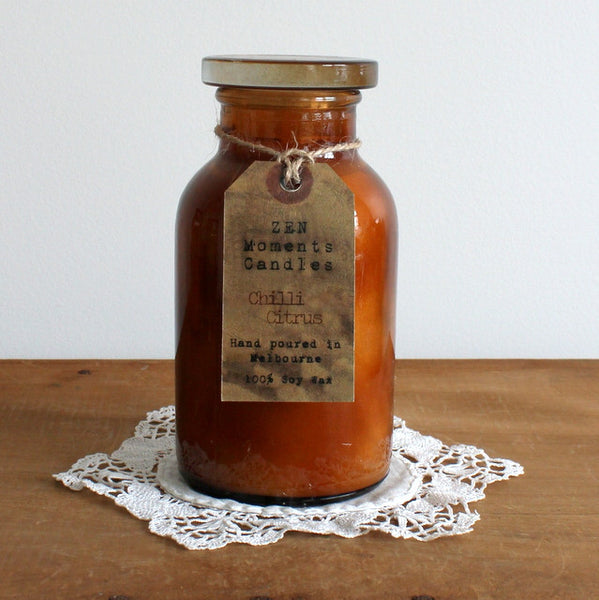 Large apothecary jar candle - chilli citrus