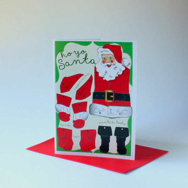 Locally designed Christmas puppet card - santa