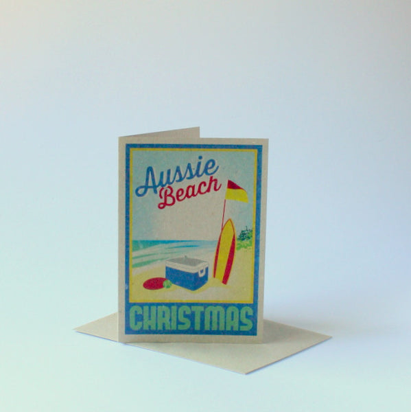 Locally made Aussie Christmas card - beach