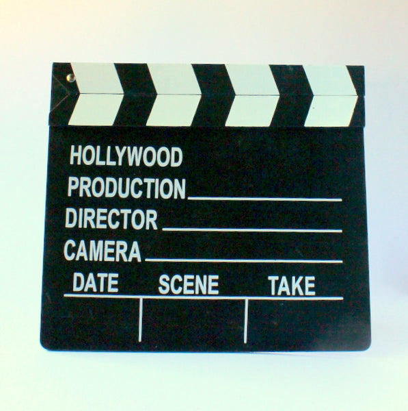 Vintage inspired movie clapboard