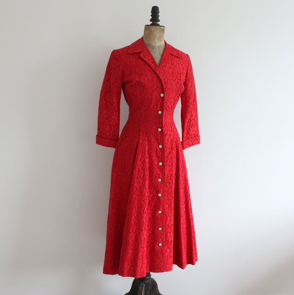 1950's Princess coat dress front