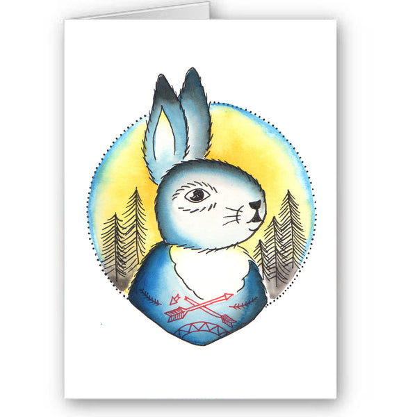 Moon bunny card