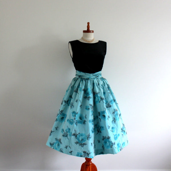 Refashioned 1950's silk skirt
