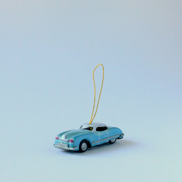 vintage inspired tin toy car christmas ornament