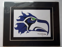 "Load image into Gallery viewer, 11x14""  Matted Swahawks style Native American Coastal Salish Tribal Art design."