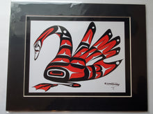 "Load image into Gallery viewer, 11x14""  Matted Graceful Swan Native American Coastal Salish Tribal Art design."