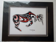 "Load image into Gallery viewer, 11x14""  Matted Native American Coastal Salish Tribal Art design."