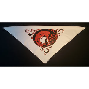 Face Mask Bandana face cover glow in the dark salmon design.