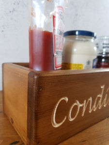Personalised Gifts For Her - Personalised Wooden Box - Condiments