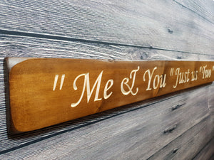 Personalised Gifts For Her - Me and you, Just us two