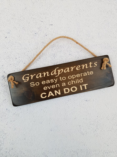 Personalised Gifts For Him - Hanging Sign - Grandparents