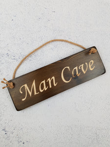 Personalised Gifts For Him - Hanging Sign - Man Cave