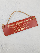 Load image into Gallery viewer, Personalised Gifts For Him - Hanging Sign - Grandparents