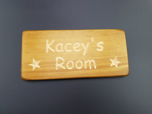 Personlised Bedroom door plaque