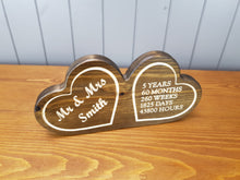 Load image into Gallery viewer, Wedding Anniversary Gifts - Wooden Hearts