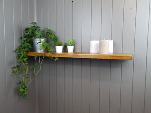 Rustic Floating shelf-Handmade from solid wood