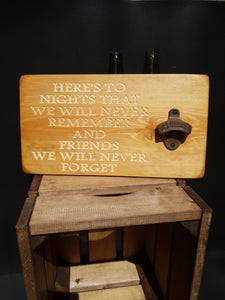 Personalised Gifts For Him - Personalised Bottle Opener - Friends