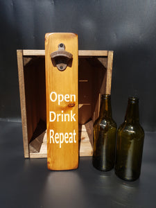 Personalised Gifts For Him - Personalised wooden Bottle Opener - Fathers Day