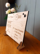 Load image into Gallery viewer, Wooden Post card - Personalised - Special gift