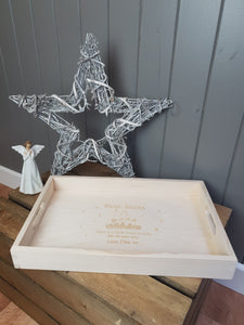 Personalised Wooden Christmas Eve Tray