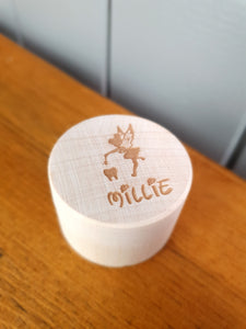 Wooden Personalised Tooth fairy pot
