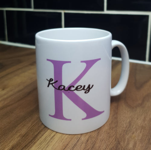 PERSONALISED MUG FOR HIM OR HER - INITIAL & NAME
