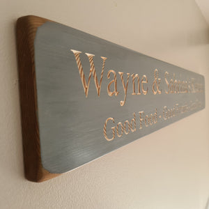 Personalised wooden kitchen sign