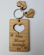 Load image into Gallery viewer, Heart Mothers day key ring