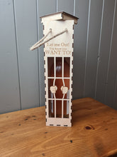 Load image into Gallery viewer, Personalised Name Jail Break Let Me Out Your Quote Engraved | Wood Wine Box Holder