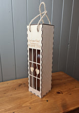 Load image into Gallery viewer, Wine bottle holder- Personalised wine box- Gift