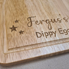 Load image into Gallery viewer, Personalised Dippy Eggs And Soldiers Egg Board