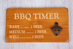 Personalised Gifts For Him - Personalised Bottle Opener - BBQ Timer