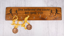 "Load image into Gallery viewer, Personalized Handmade Gifts - Medal Holders- ""She Believed She Could"""