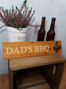 Personalised Gifts For Him - Personalised Bottle Opener - Dad's BBQ