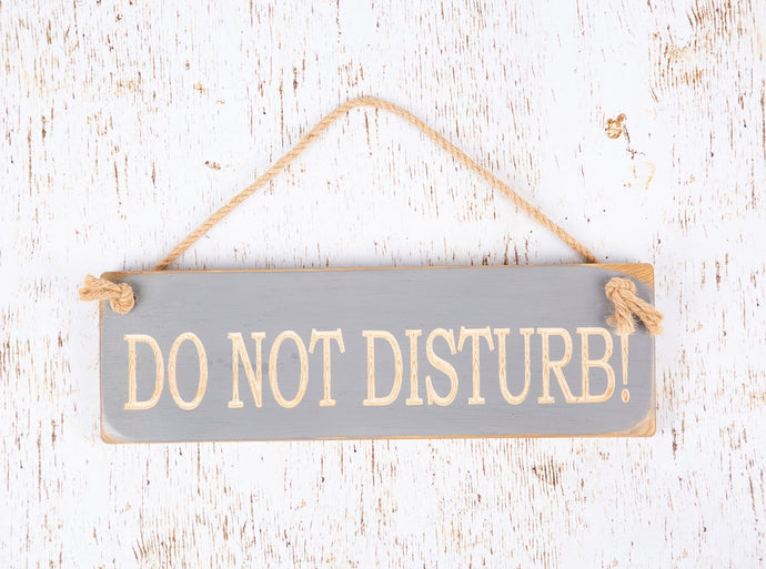 Personalised Gifts - Hanging Sign - Do Not Disturb