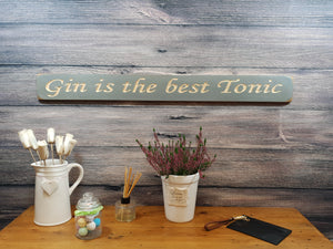 "Personalised Gifts for Her - ""Gin Is The Best Tonic!"""
